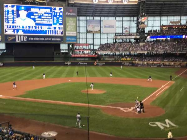 Miller Park, section: 220, row: 3, seat: 17