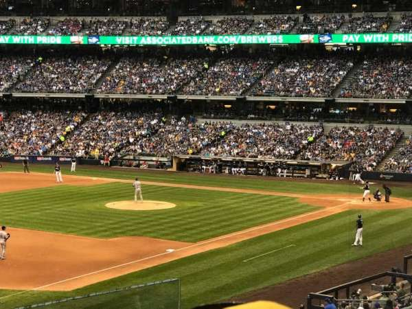 Miller Park, section: 229, row: 3, seat: 2