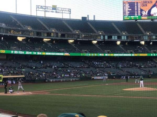 Oakland Coliseum, section: 112, row: 6, seat: 7