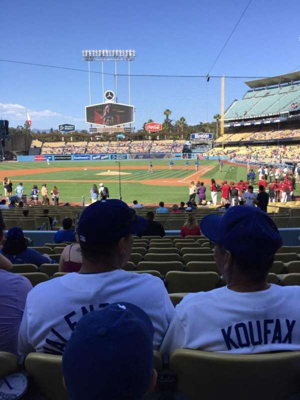 Dodger Stadium, section: 7FD, row: L, seat: 6