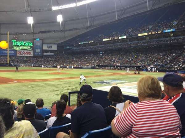 Tropicana Field, section: 119, row: M, seat: 9