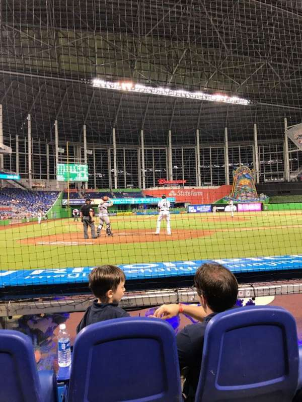 Marlins Park, section: FL4, row: BB, seat: 8