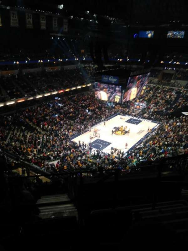 Bankers Life Fieldhouse, section: 214, row: 10, seat: 2
