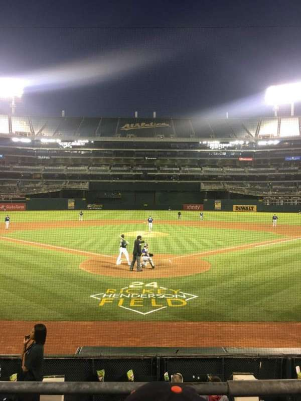 Oakland Alameda Coliseum, section: 117, row: 14, seat: 7