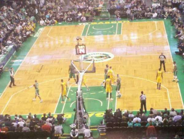 TD Garden, section: Bal 323, row: 2, seat: 12