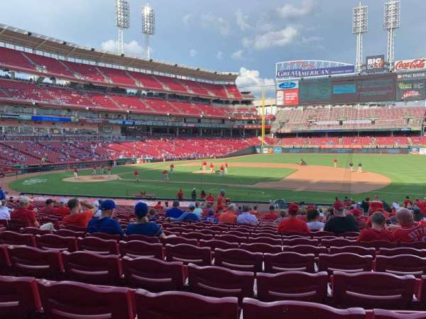Great American Ball Park, section: 131, row: DD, seat: 12