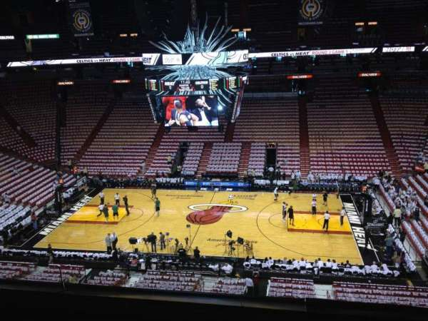 American Airlines Arena, section: 324, row: 3, seat: 5