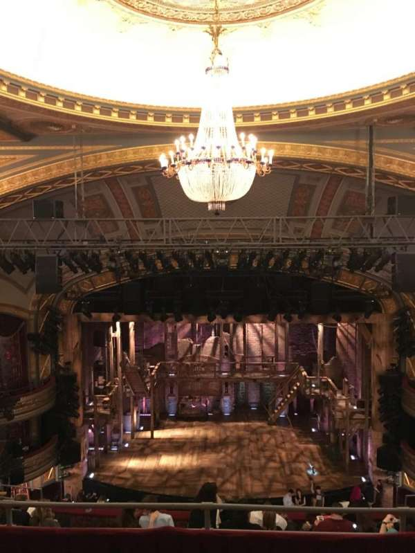 Richard Rodgers Theatre, section: Rear Mezzanine C, row: C, seat: 107