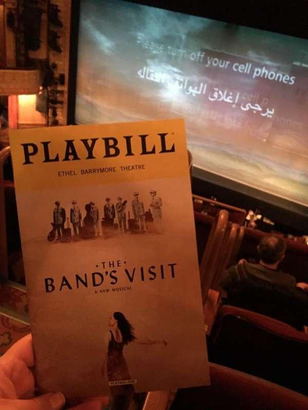 Ethel Barrymore Theatre, section: Front Mezzanine R, row: E, seat: 2