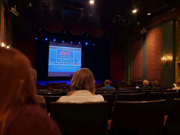 Sellersville Theater, section: First half, row: H, seat: 14