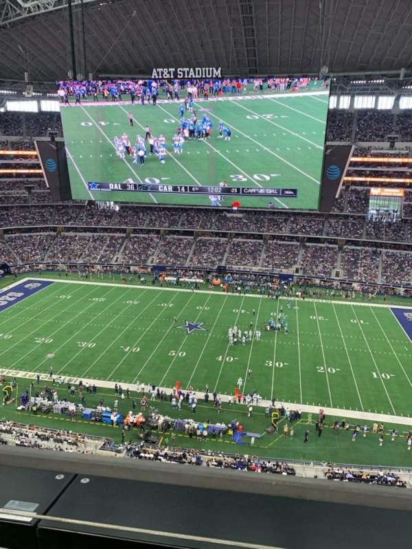AT&T Stadium, section: 411, row: 1, seat: 1
