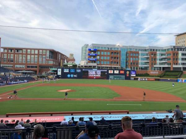 Durham Bulls Athletic Park, section: 208, row: W, seat: 10