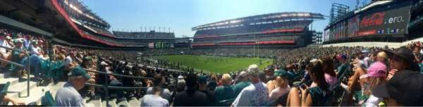 Lincoln Financial Field, section: 126, row: 25, seat: 1