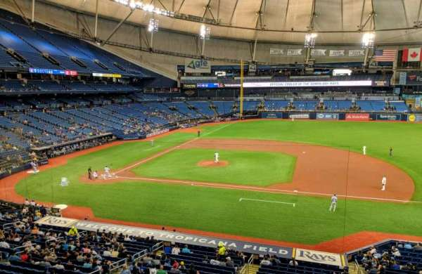 Tropicana Field, section: 212, row: 1, seat: 16