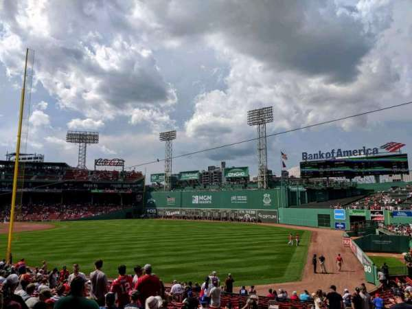 Fenway Park, section: Right Field Box 92, row: KK, seat: 5