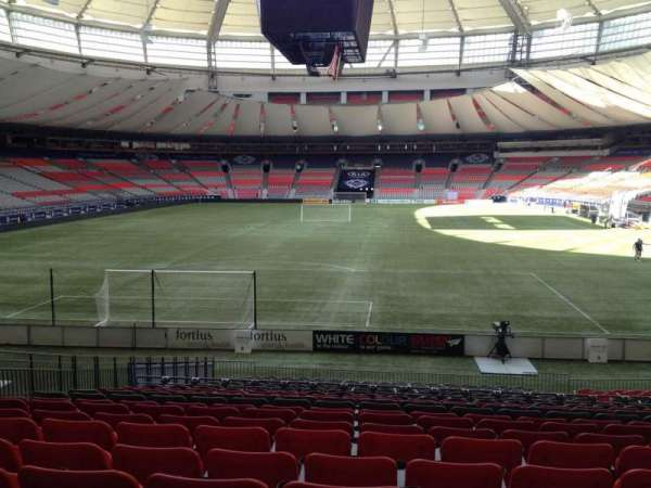 BC Place, section: 227, row: U, seat: 8