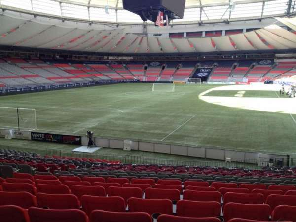 BC Place, section: 225, row: U, seat: 8