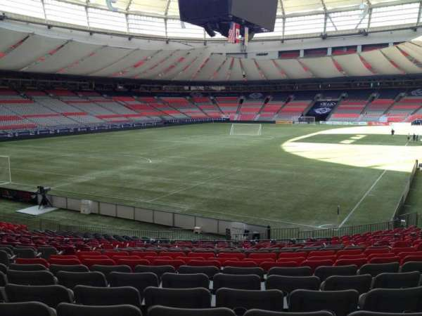 BC Place, section: 224, row: U, seat: 8