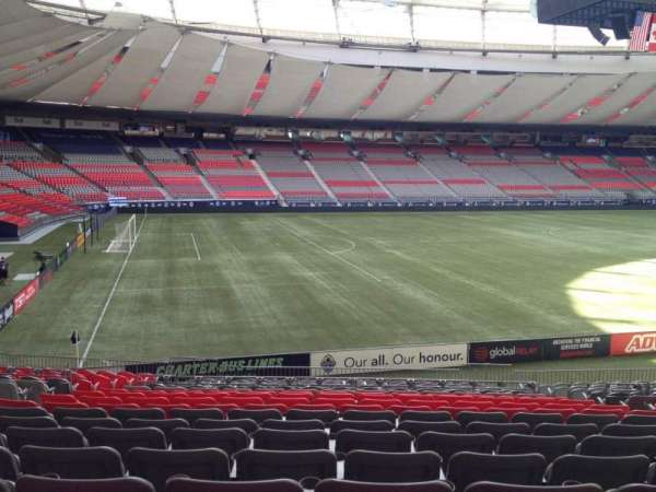 BC Place, section: 219, row: U, seat: 8