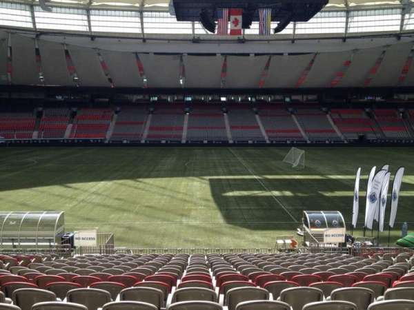 BC Place, section: 215, row: U, seat: 8