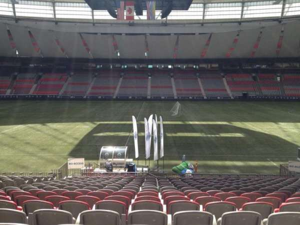 BC Place, section: 214, row: U, seat: 8