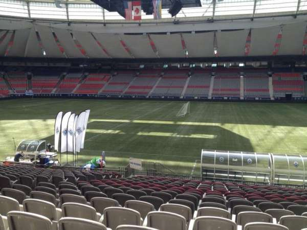 BC Place, section: 213, row: U, seat: 8
