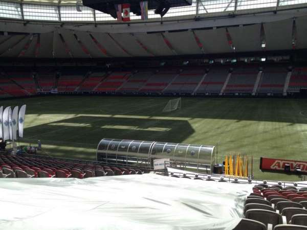 BC Place, section: 212, row: U, seat: 9