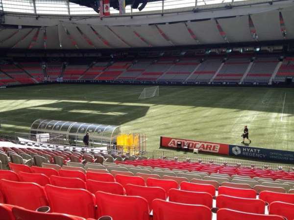 BC Place, section: 211, row: U, seat: 8