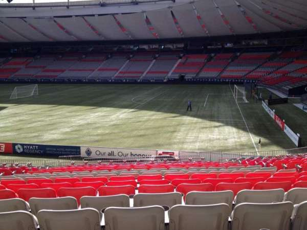 BC Place, section: 210, row: U, seat: 8