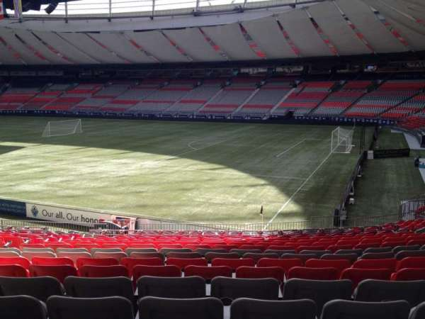 BC Place, section: 209, row: U, seat: 8
