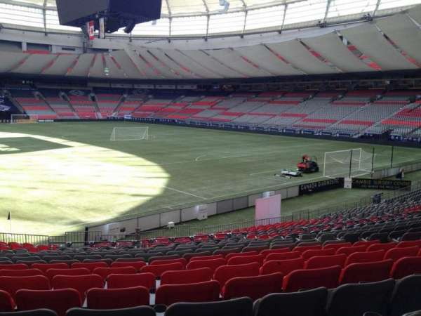 BC Place, section: 206, row: U, seat: 8