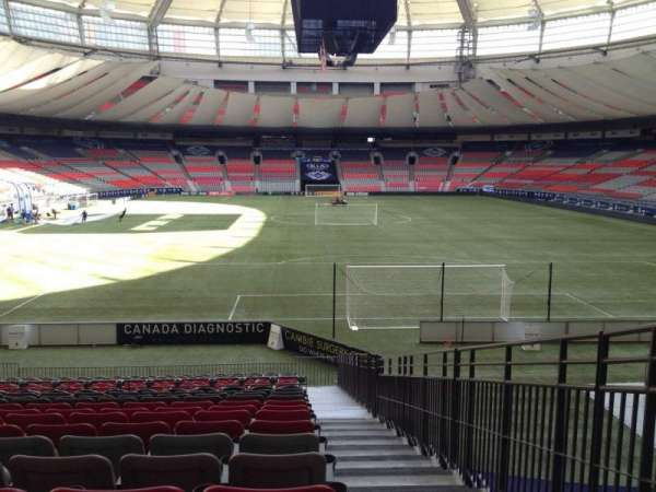 BC Place, section: 201, row: U, seat: 101