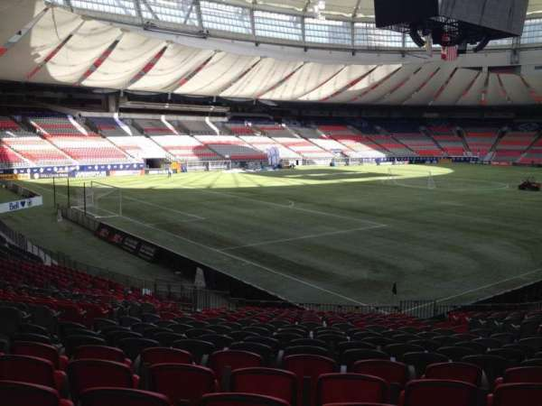 BC Place, section: 249, row: U, seat: 8