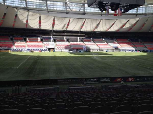BC Place, section: 244, row: U, seat: 8