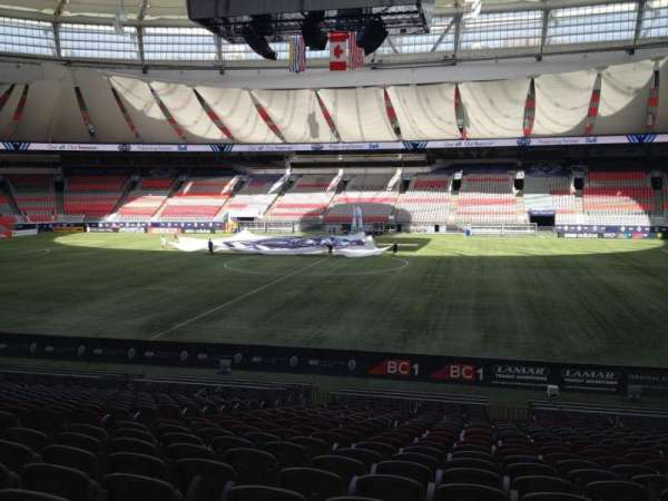 BC Place, section: 240, row: U, seat: 8