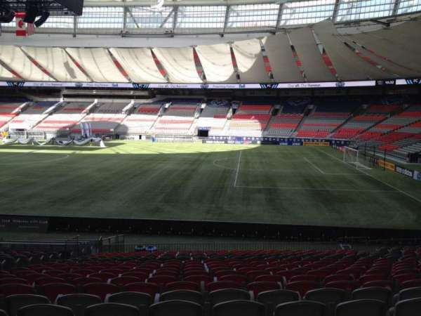 BC Place, section: 238, row: U, seat: 8