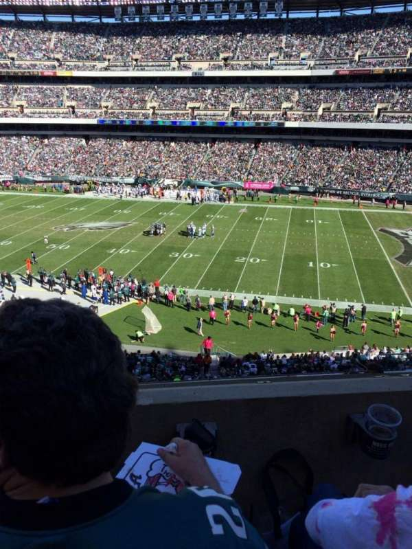 Lincoln Financial Field, section: C3, row: 2, seat: 5