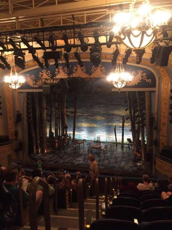 Gerald Schoenfeld Theatre, section: Mezzanine R, row: K, seat: 4