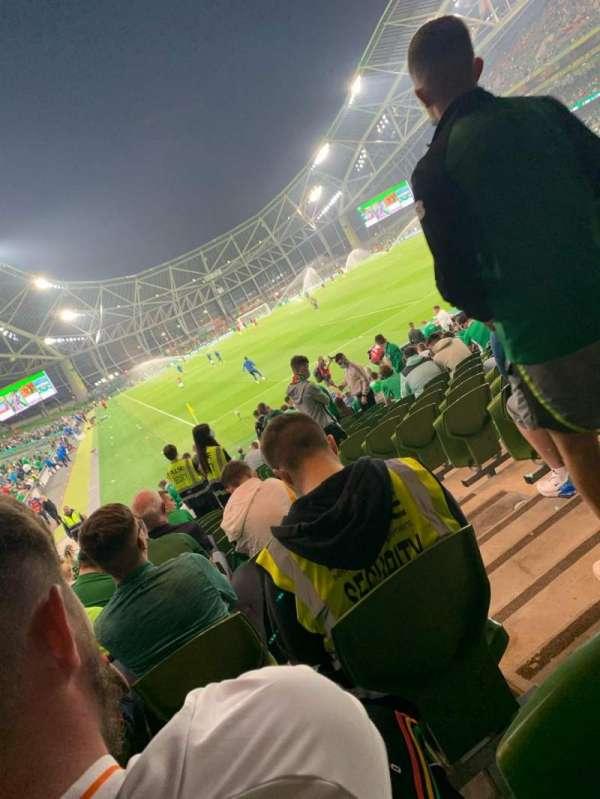 Aviva Stadium, section: 117, row: Y, seat: 17