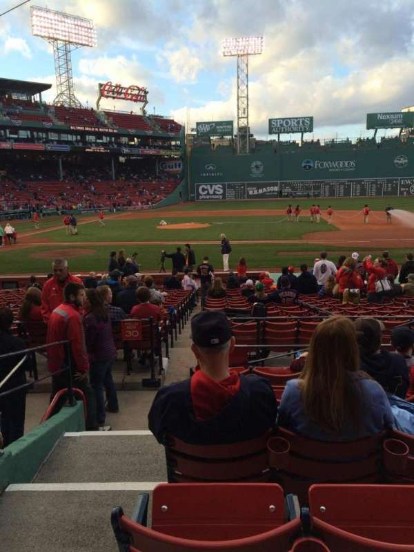 Fenway Park, section: Loge Box 115, row: FF, seat: 6