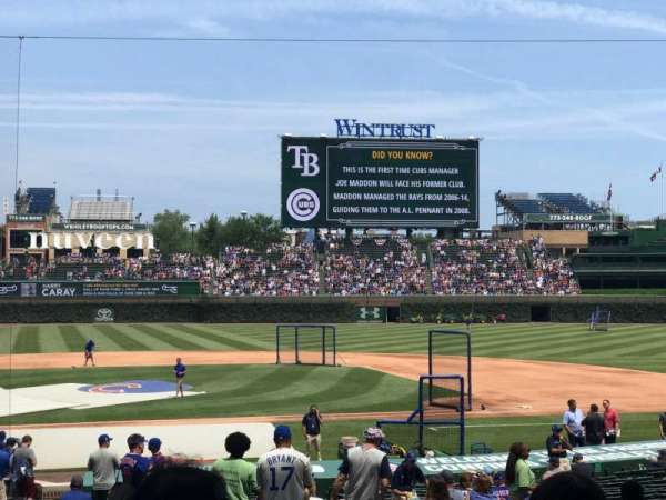 Wrigley Field, section: 122, row: 15, seat: 13