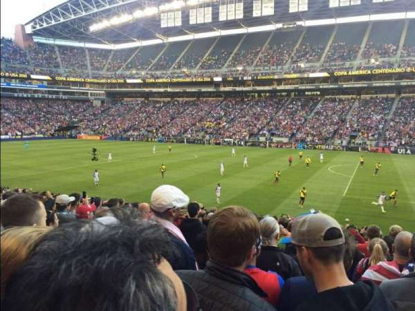 CenturyLink Field, section: 106, row: V, seat: 3