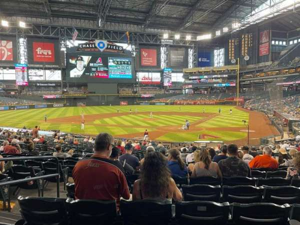 Chase Field, section: 124, row: 31, seat: 11