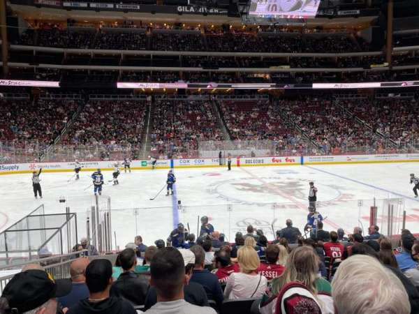 Gila River Arena, section: 101, row: L, seat: 15
