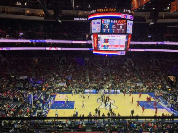 Wells Fargo Center, section: 212, row: 1, seat: 17
