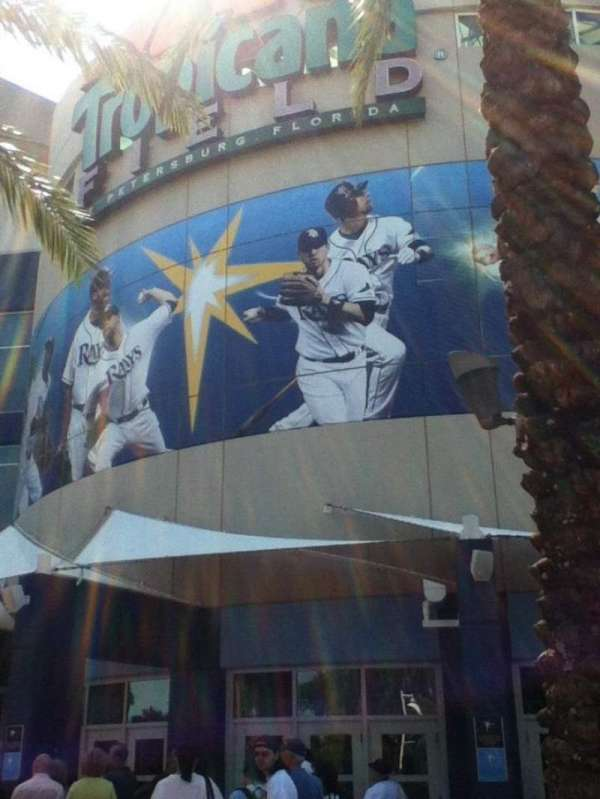 Tropicana Field, section: Gate 1