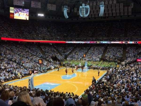 Dean E. Smith Center, section: 102, row: W, seat: 4