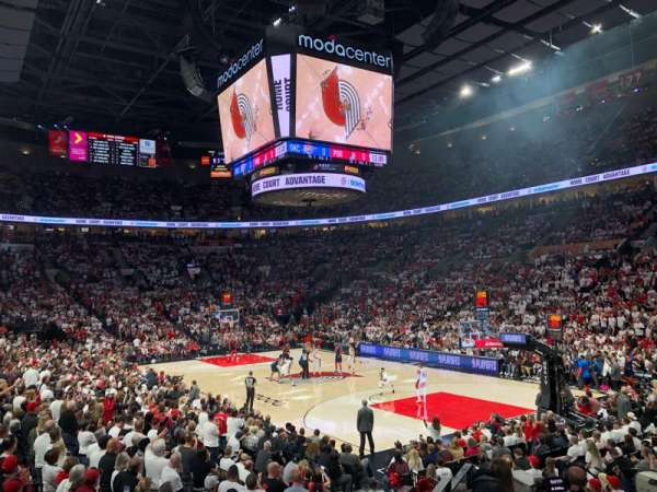 Moda Center, section: 109, row: J, seat: 1