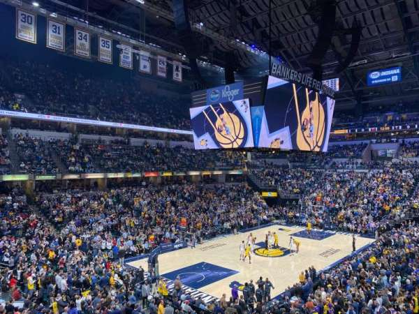 Bankers Life Fieldhouse, section: 108, row: 2, seat: 9