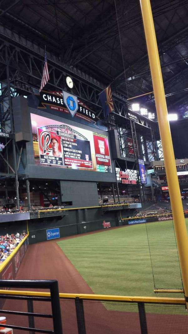 Chase Field, section: 136, row: 26, seat: 18